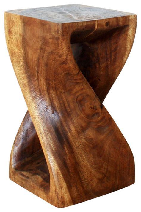 Monkey Pod Stool by Twist Stool 10x10x18 Inch Hgt Sust Monkey Pod Wood W Eco