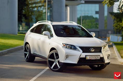 suv lexus white lexus rx350 suv white vossen wheels tuning coupe cars