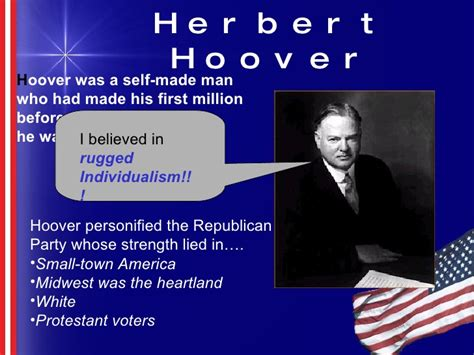 herbert hoover rugged individualism politics 1920s