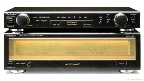 And Technics by Technics Se A1000 Manual Stereo Power Lifier Hifi