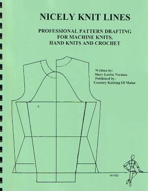 pattern drafting machine nicely knit lines by mary louise norman professional