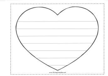shaped writing template inspiration