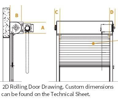Exterior Mounted Roll Up Doors Rolling Service Door