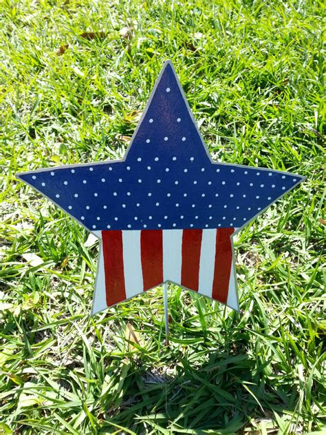 4th of july backyard decorations patriotic star yard decoration 4th of july outdoor decor