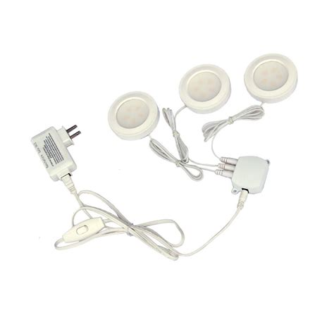 Commercial Electric Under Cabinet Lighting 3 Light White Commercial Electric Led Cabinet Lighting