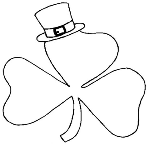 shamrock art coloring page get this free picture of shamrock coloring pages prmlr
