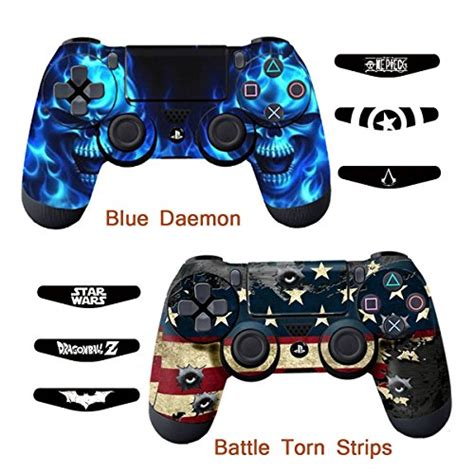 Sale Ps4 Dualshock 4 Wireless Controller Light Bar skins for ps4 controller decals for playstation 4