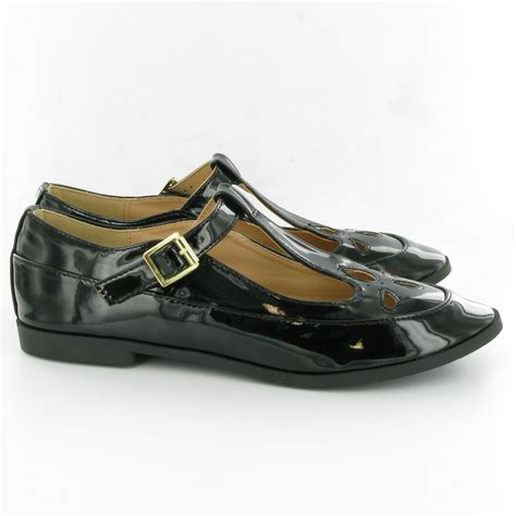 t bar shoes dolcis ols246 t bar shoes in black patent