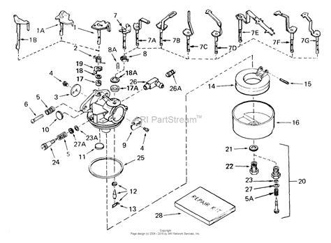 tecumseh engine carburetor diagram tecumseh ca 631925 parts diagram for carburetor