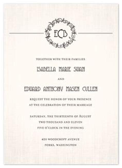 twilight saga wedding invitation wedding and twilight on