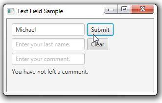 Javafx Text Field Layout | 8 テキスト フィールド リリース8