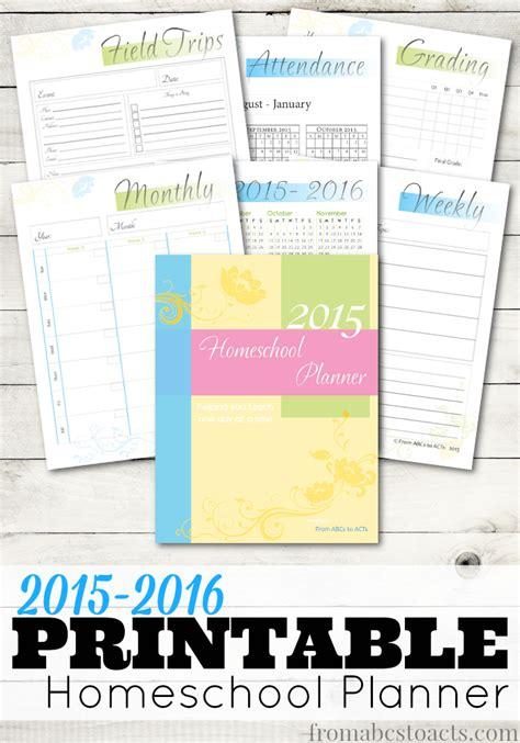 printable homeschool planner homeschool deals