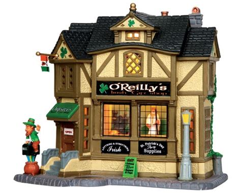 lemax village collection o reilly s irish gift shop 35546