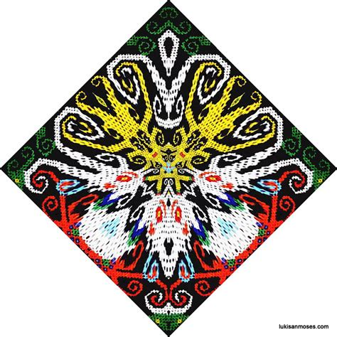 desain kaos ethnic desain gambar khas etnik dayak untuk sablon t shirt art