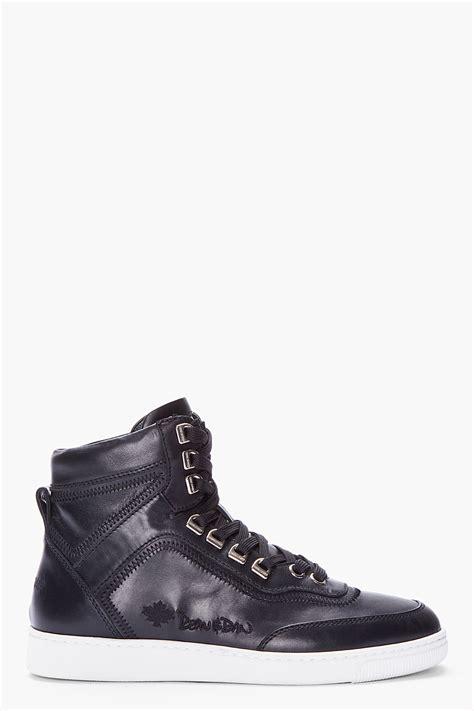 hill sneakers dsquared 178 black sugar hill alta sneakers in black for
