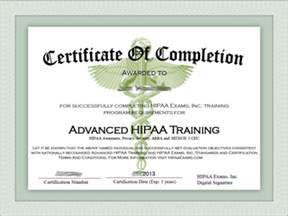 hipaa certificate template doc 30002400 certificate of completion