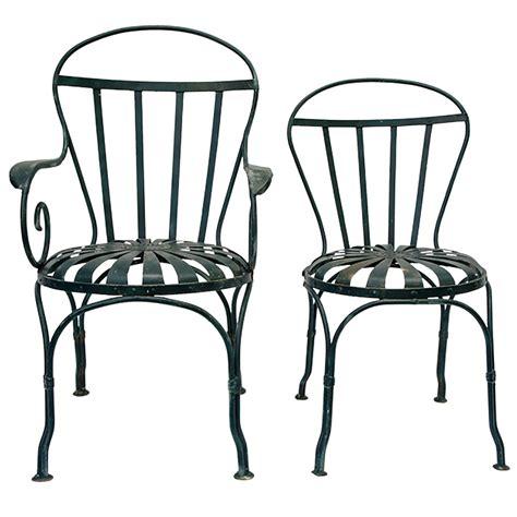 4 Iron Garden Chairs at 1stdibs