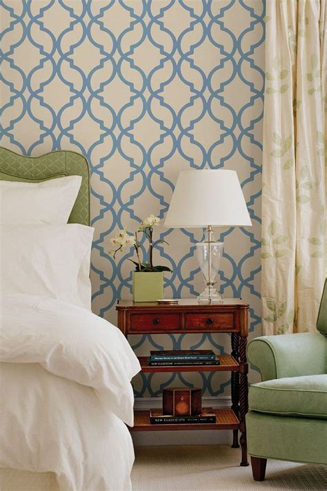 trellis headboard love the idea of having printed wall paper on the wall