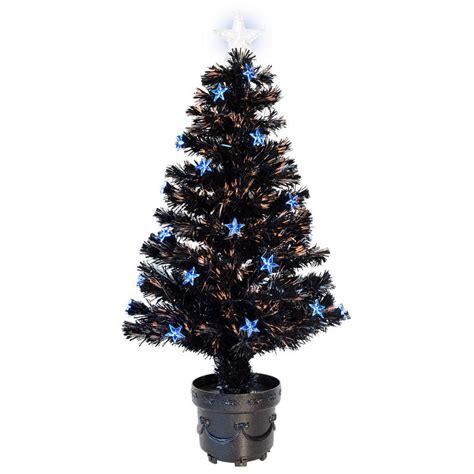 3ft 90cm beautiful black fibre optic christmas tree with