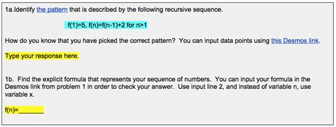recursive pattern questions making math visual sbac practice activities patterns and