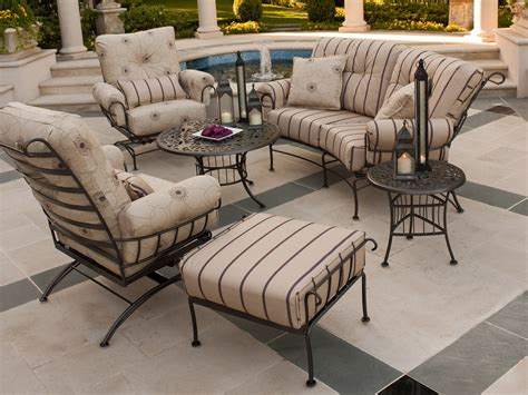 Patio Furniture Second by Wrought Iron Patio Furniture Cushions Chicpeastudio