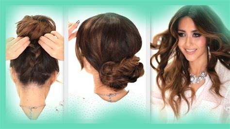 3 easy hairstyles braids curls messy bun