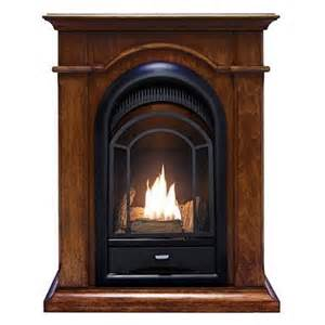 procom compact arched fireplace with mantel s gas