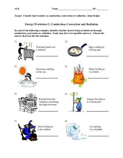 Energy Transfer Worksheet Answers by Energy Transfer Worksheet Free Worksheets Library