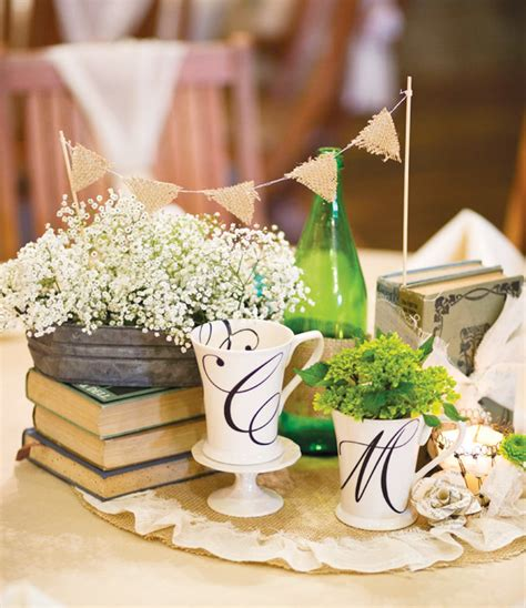 Our Story Wedding Hostess With The Mostess 174 Vintage Table Centerpieces