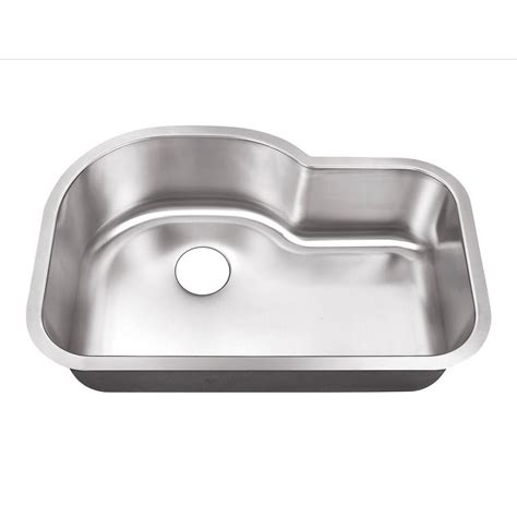 undermount kitchen sinks stainless steel belle foret undermount stainless steel 32 in 0 hole single basin kitchen sink bfsb3121 the