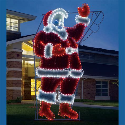 waving santa lights 17 ft led light waving garland santa display