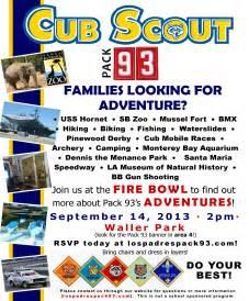 cub scout calendar template cub scout recruiting flyer cub scout pack 360