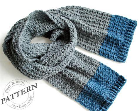 mens crochet scarf free pattern crochet and knit
