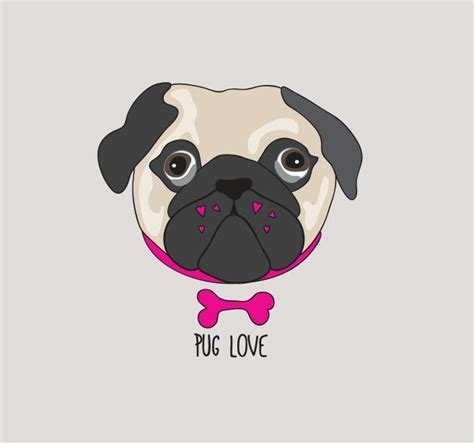 pug illustration 17 best ideas about pug illustration on pug pug and pug