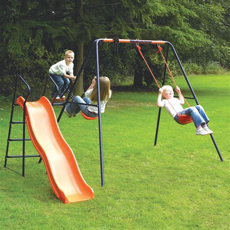 swinging on a swing set swing and slide sets next day delivery swing and slide