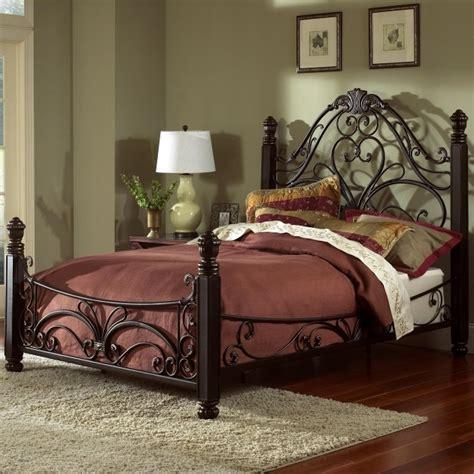 doral king metal bed frame headboard footboard picture