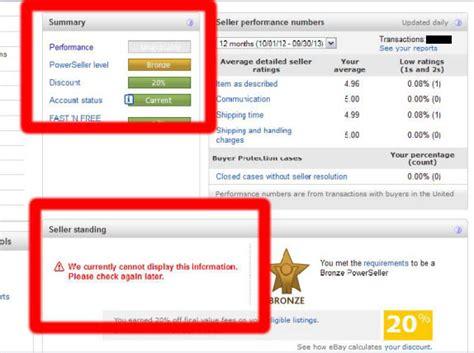 sellers ebay new ebay billing agreement and missing performance data