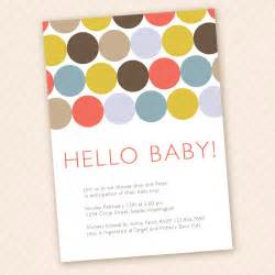 hello baby modern baby shower invitation design