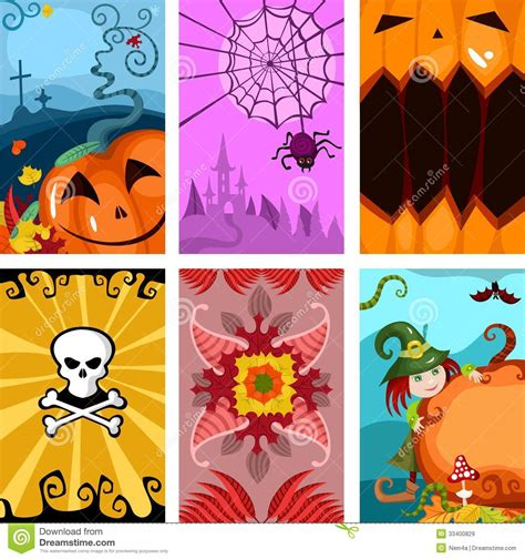 tarjeta animada para halloween halloween tarjetas tarjetas de halloween im 225 genes de archivo libres de