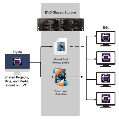 avid workflow avid storage workflow using evo sns studio network