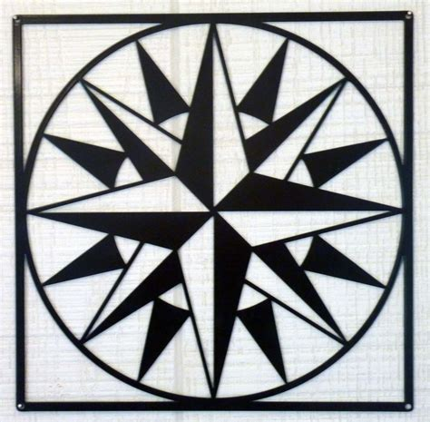 quilt pattern mariner compass mariners compass pattern barn quilt black metal 24 quot x