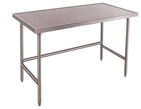 stainless steel chef table stainless steel raised edge chef table 24 quot x48 quot modern