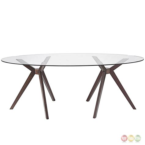 duet modern 79 quot glass top dining table with tripod