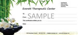 Massage Certificate Template 6 Best Images Of Massage Gift Certificate Template