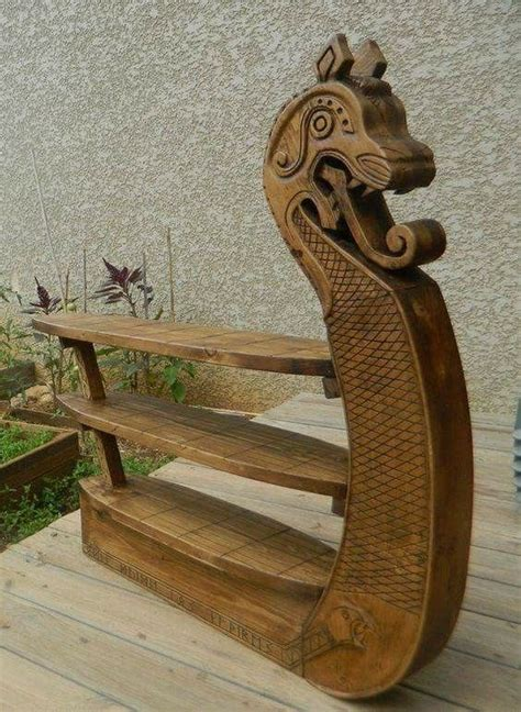 viking wood carving images  pinterest