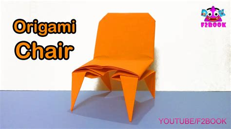3d origami chair tutorial origami chair folding instructions how to make an