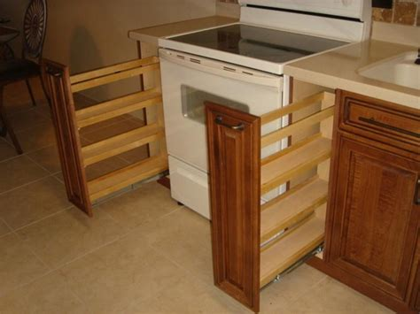 kitchen cabinets spice rack pull out bloombety cabinet pull out double spice rack cabinet