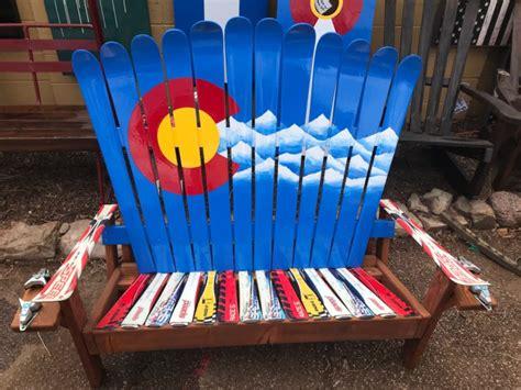 colorado ski chairs colorado mountain adirondack ski bench