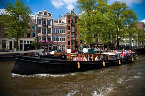 amsterdam party boat from hull rent 60 persons canal barge anna maria via rent a boat