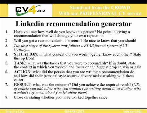 Letter Of Recommendation On Linkedin linkedin recommendation exles